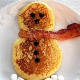 kids breakfast ideas, snowman pancakes ideas, fun kids food