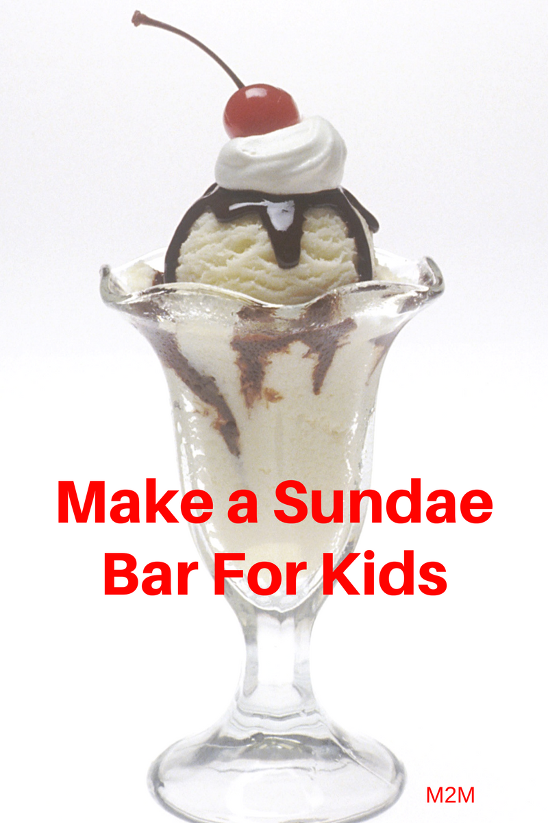 sundae bar for kids