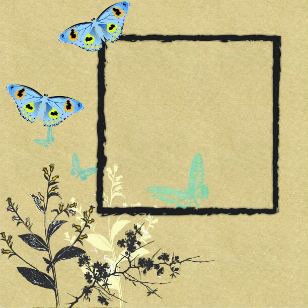 Printable Butterfly Scrapbook Pages Mother2motherblog