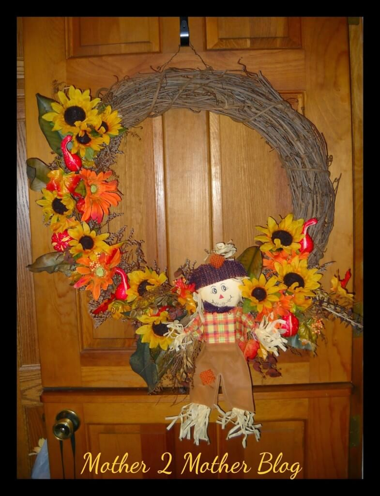 fall decorating, making a fall wreath