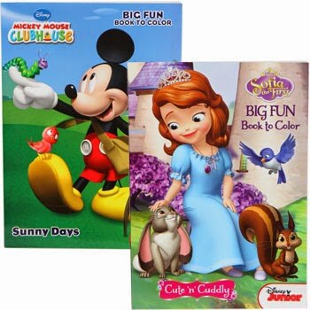 Disney coloring books, kids activities