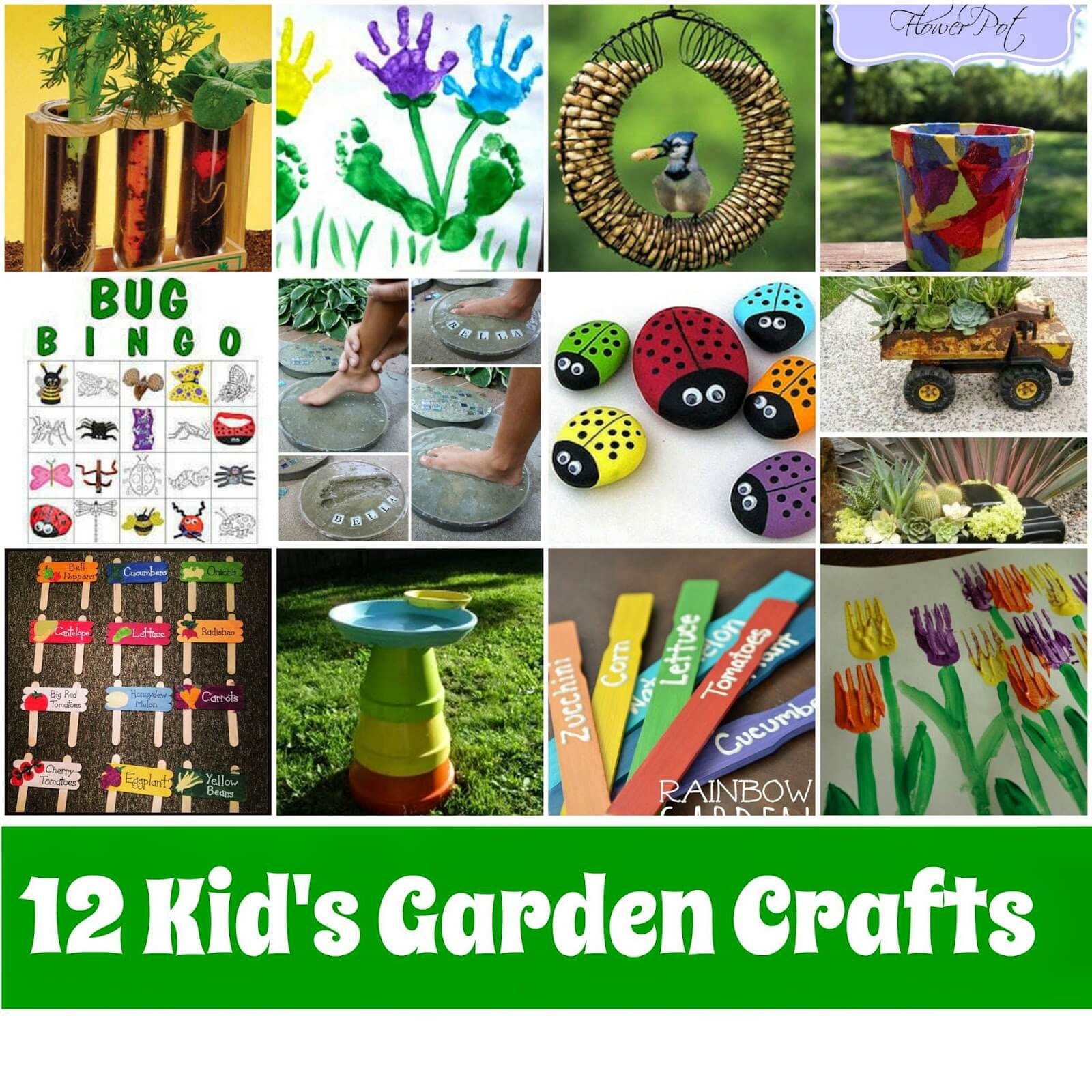 Kid 39 s garden crafts roundup mother2motherblog for Garden crafts for toddlers