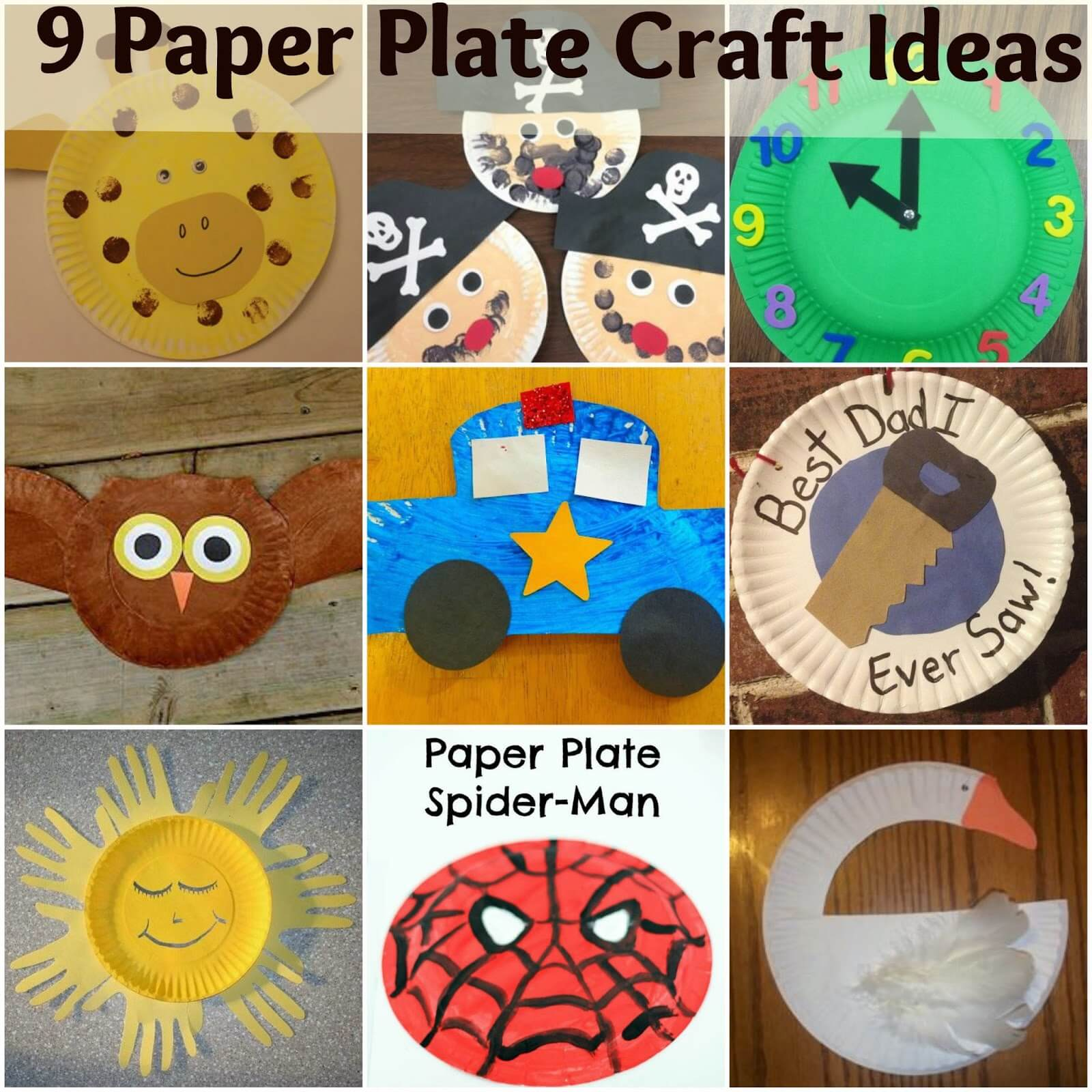 9 Paper Plate Craft Ideas For Kids