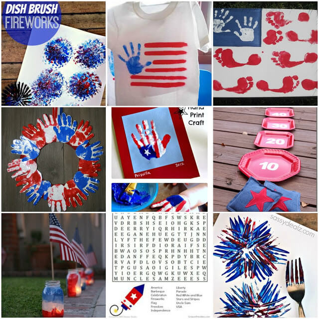 kids crafts, patriotic crafts, 4th of July ideas