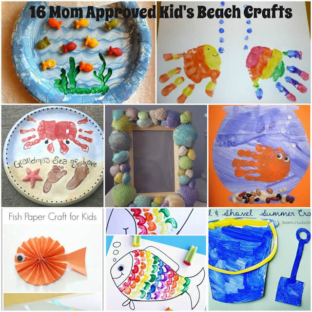 kids beach crafts, kids crafts, summer activities, summer crafts for kids, crafts for kids, crafts