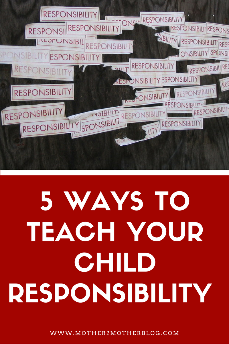 tips to teach children responsibility
