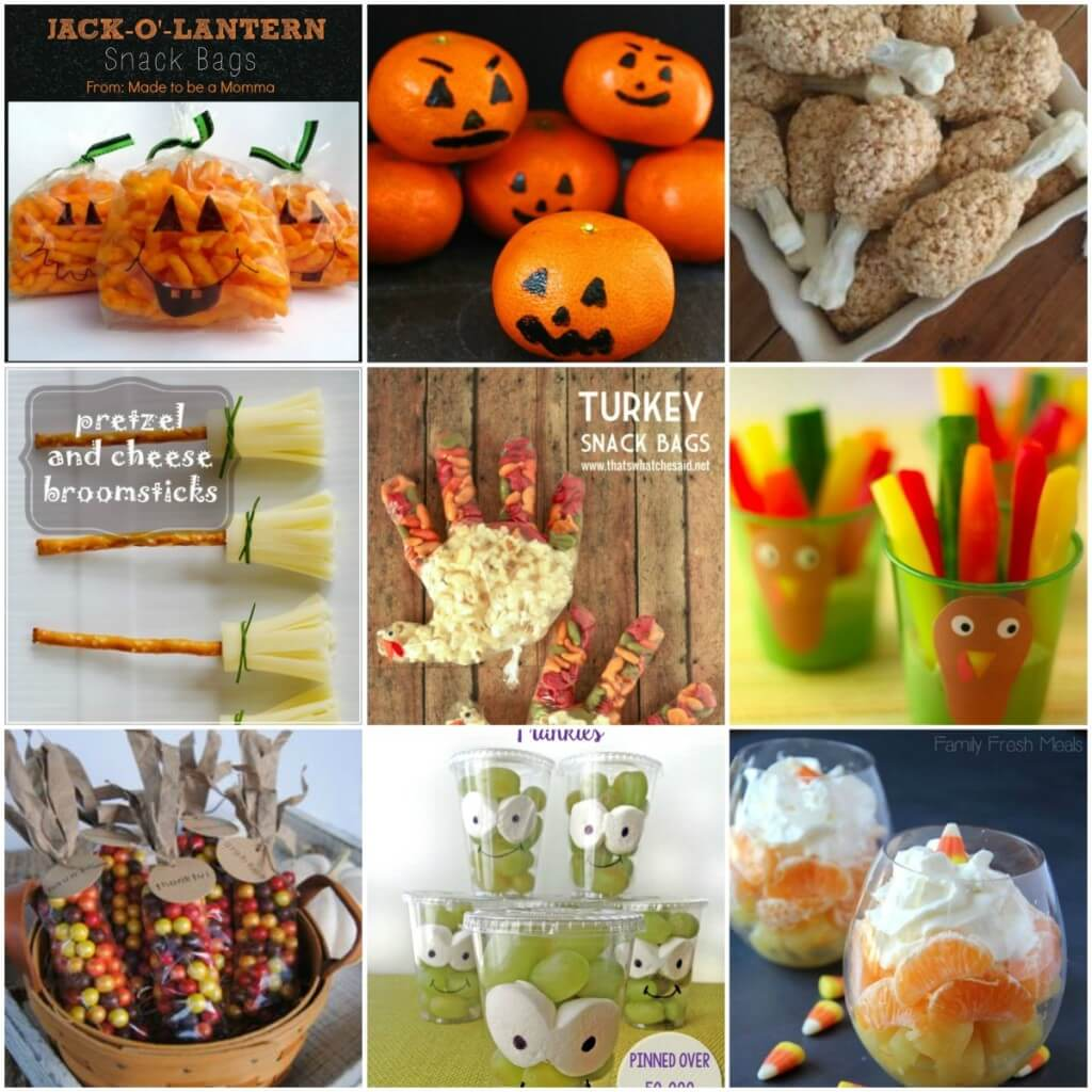 kids snack ideas, fall food ideas