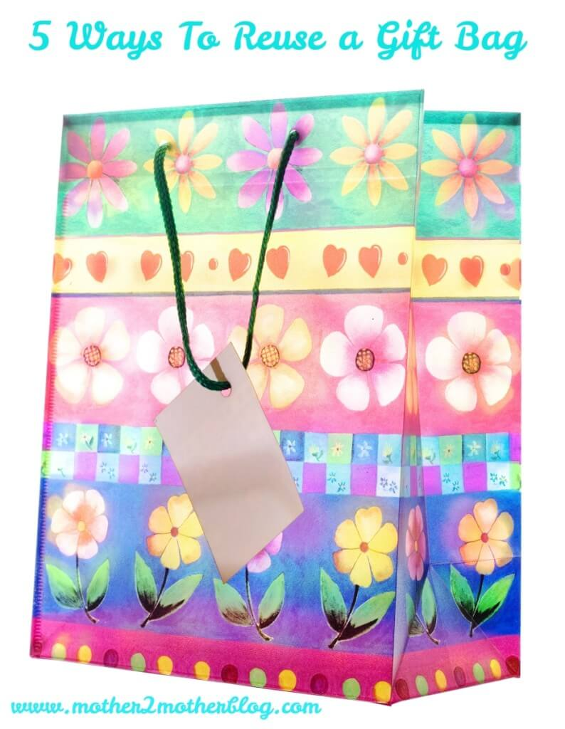 recycle, repurpose, gift bags