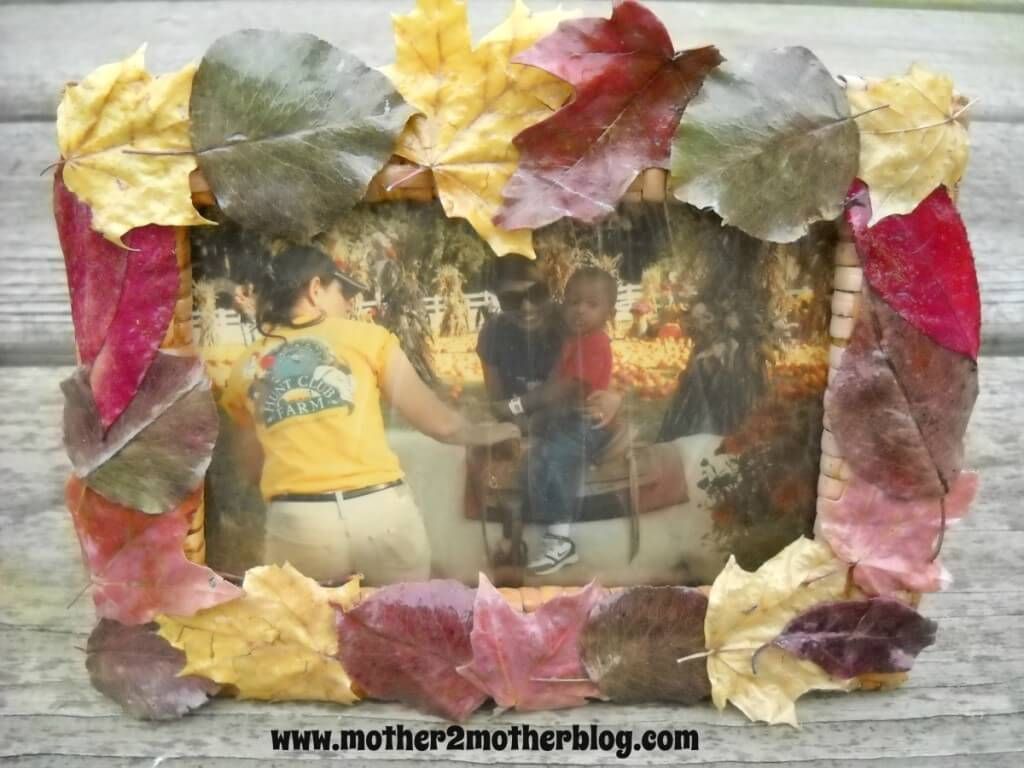 leaf frames, fall decorating, fall crafts