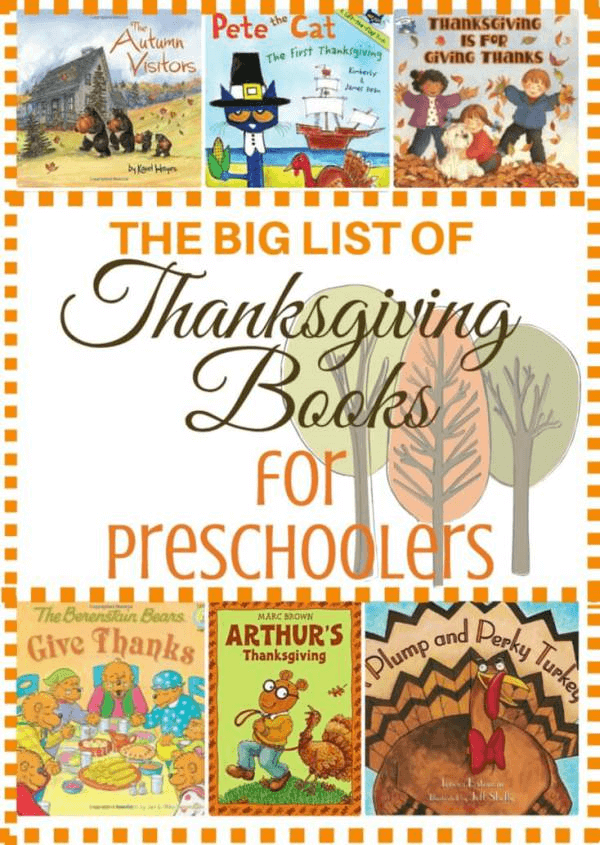 preschool books, Thanksgivin books