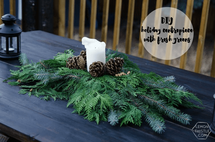 Christmas centerpieces, Christmas greenery