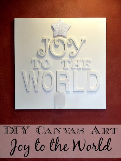 art canvass, Joy to the world, art