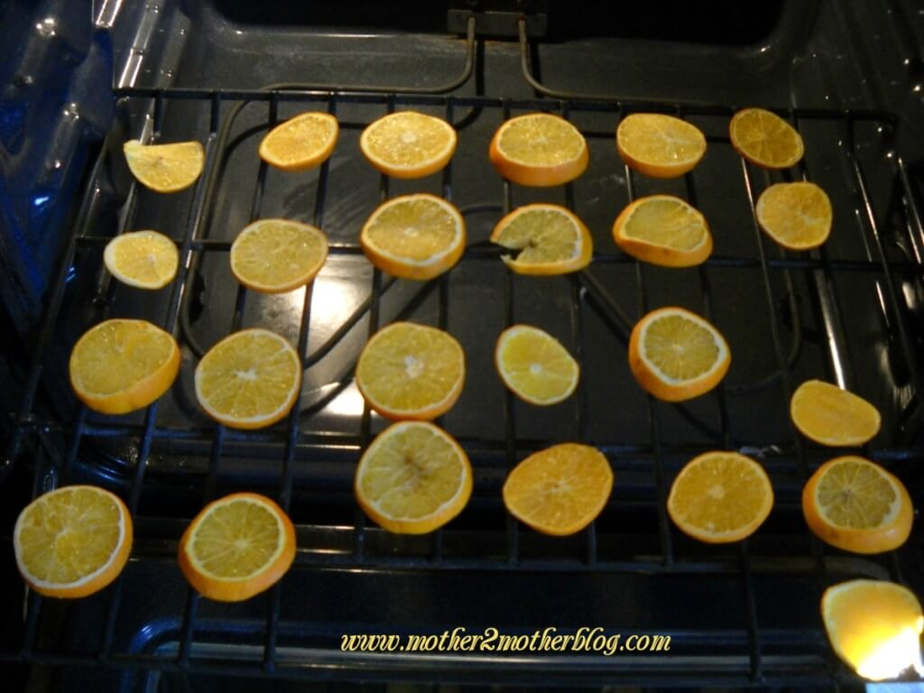 drying orange slices, dried orange slices
