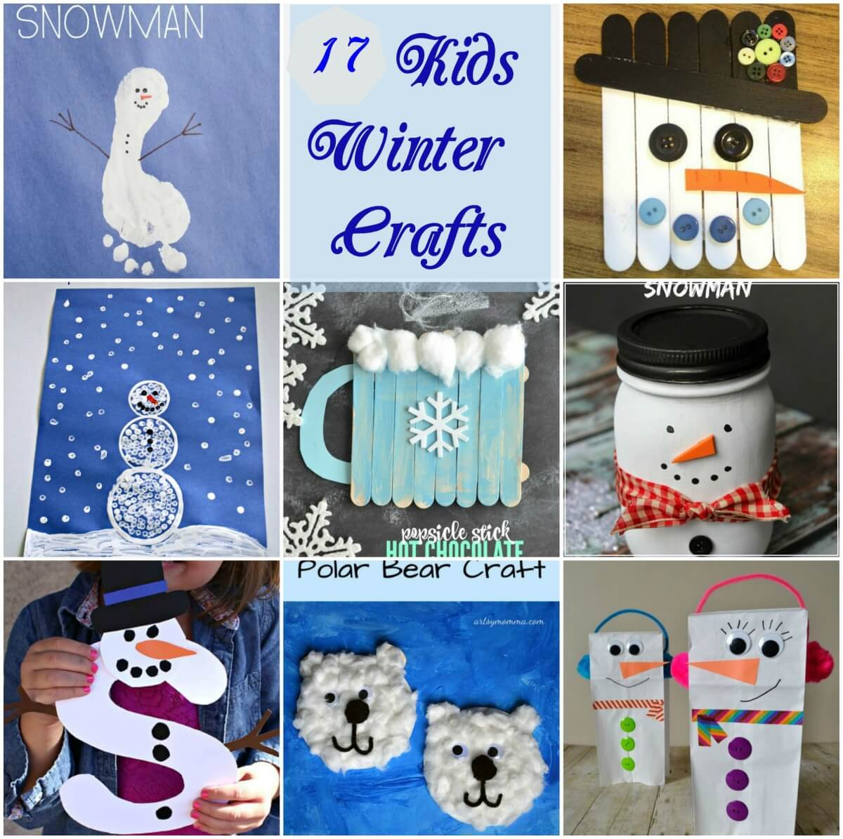 winter craft ideas for children 17 winter snowman craft ideas for mother2motherblog 7330