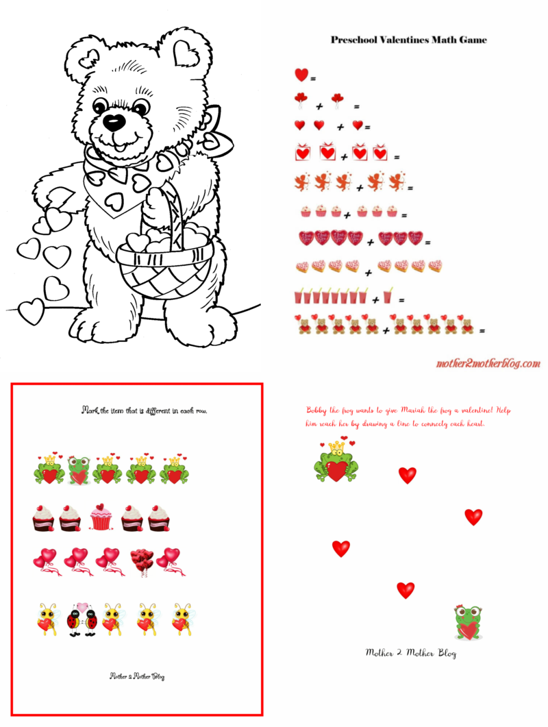 Preschool Valentines Activities