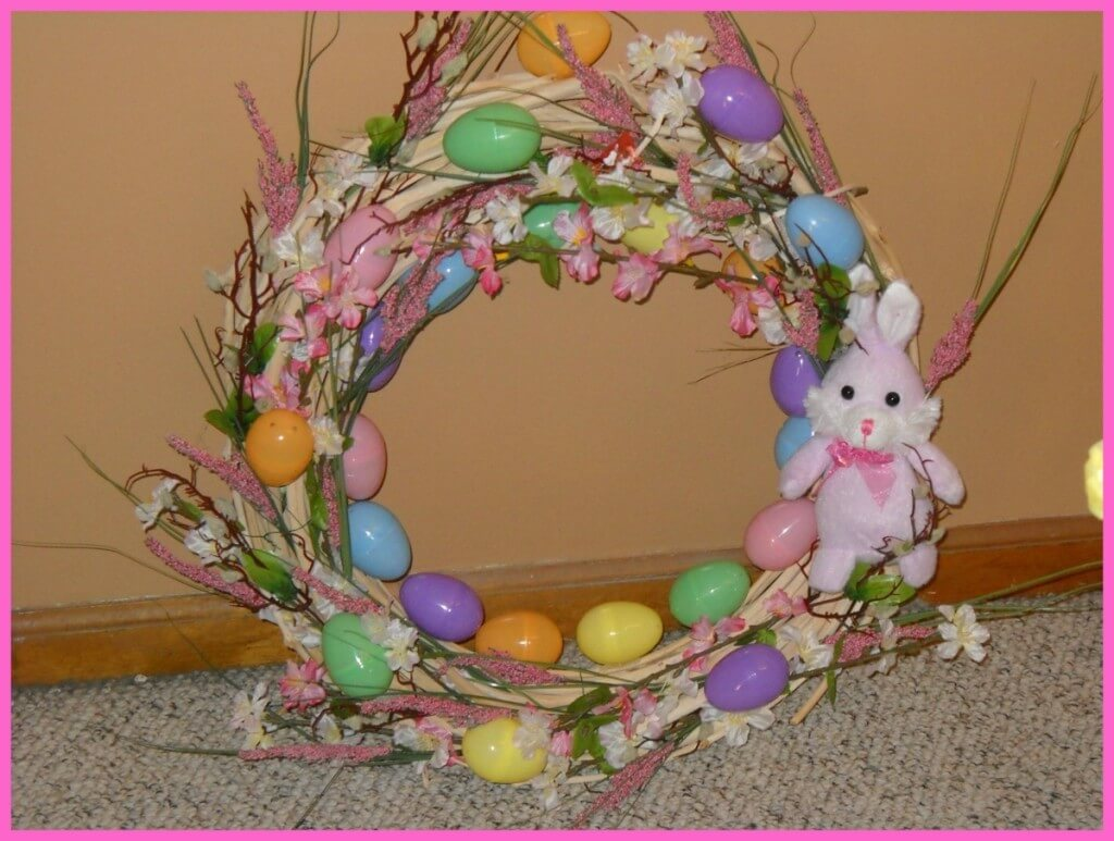 frugal decorating, Easter decorating, Easter wreath ideas