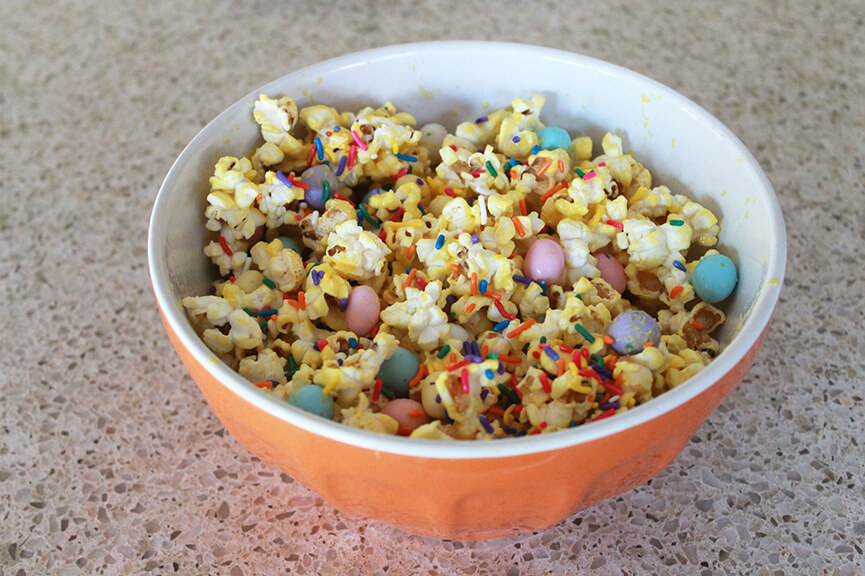 Easter snack ideas, Easter popcorn