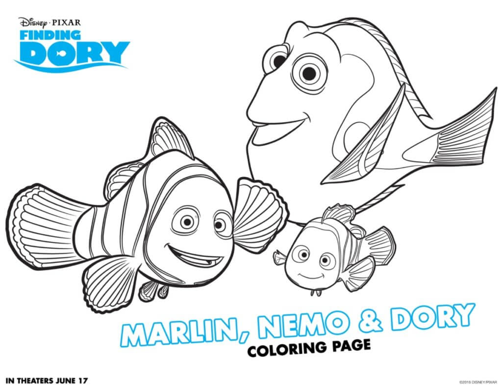 Finding Dory activities, connect the dot printables, coloring printables