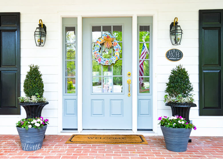 spring decorating ideas, front porch makeovers