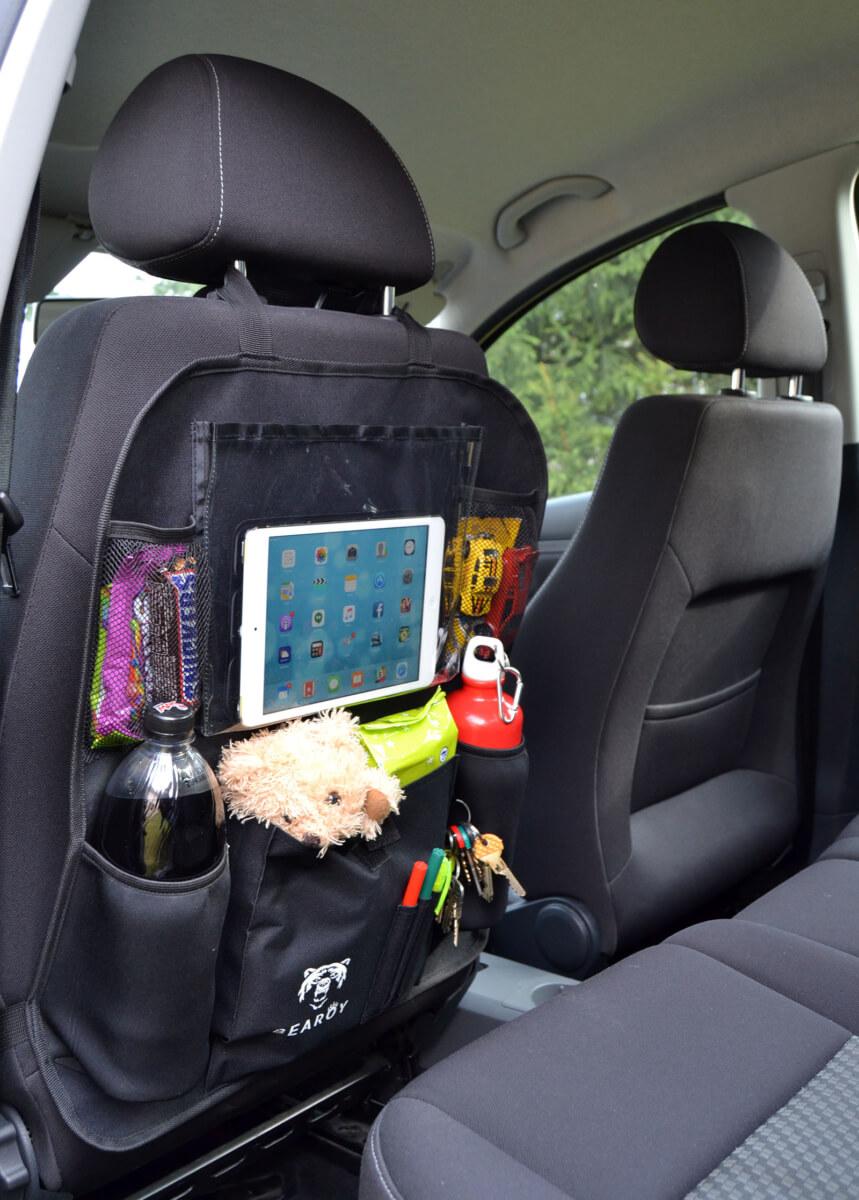 bearoy back seat organizer review mother2motherblog. Black Bedroom Furniture Sets. Home Design Ideas