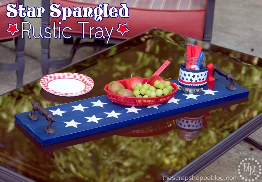 patriotic DIY, patriotic trays, patriotic decorating ideas