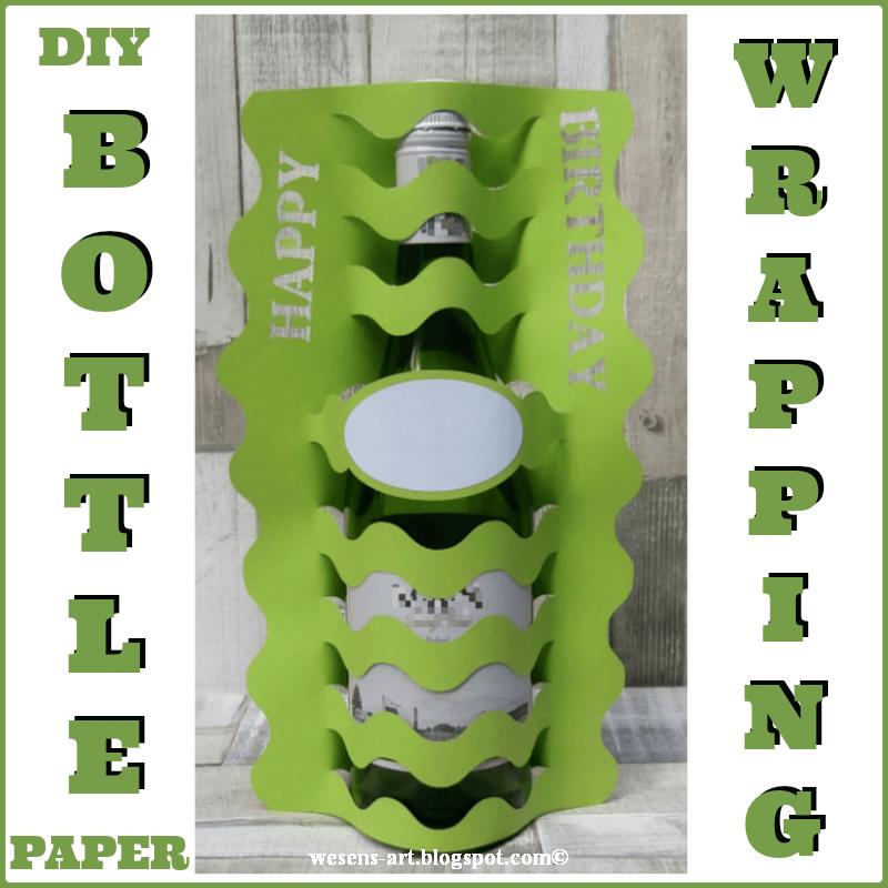 DIY bottle wrap, birthday gift ideas