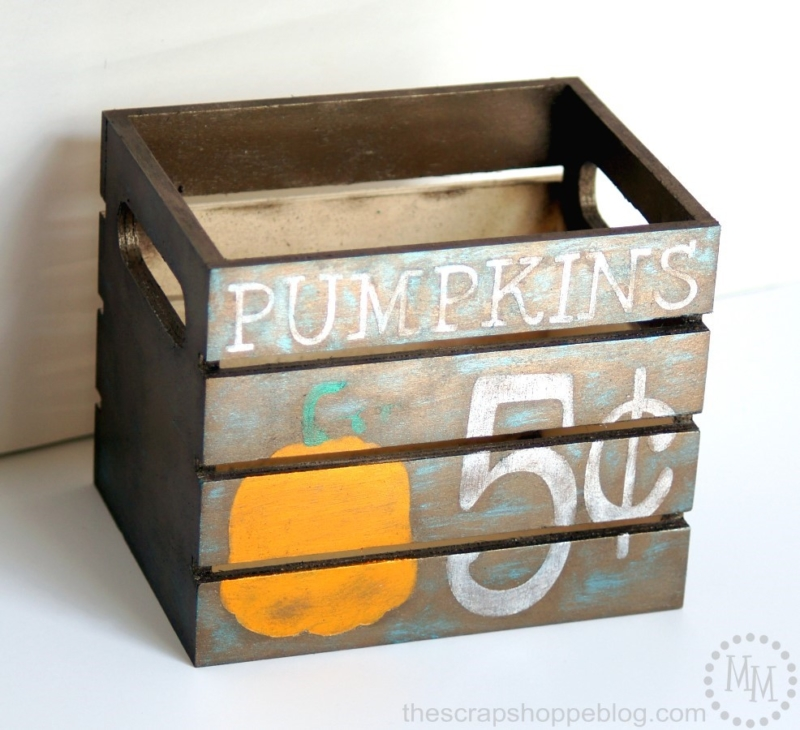 how to paint a pumpkin design crate