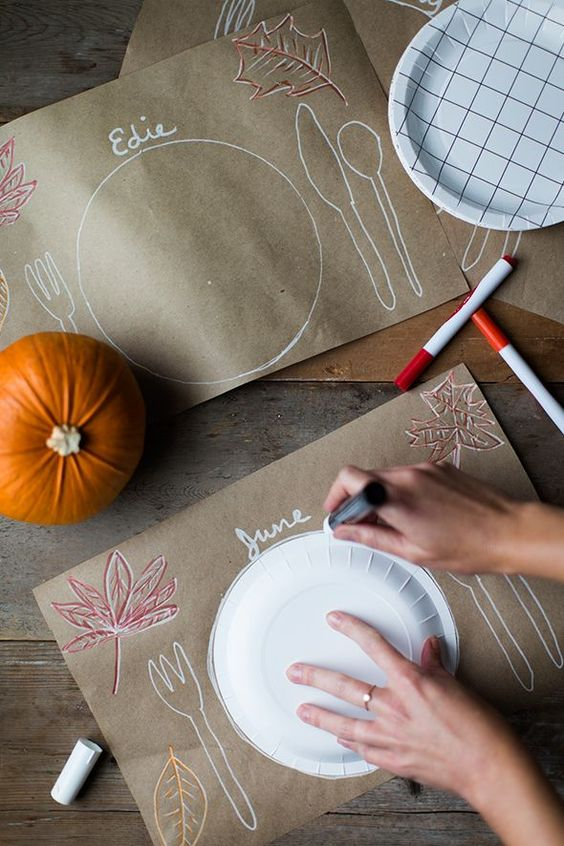 kids Thanksgiving place mat