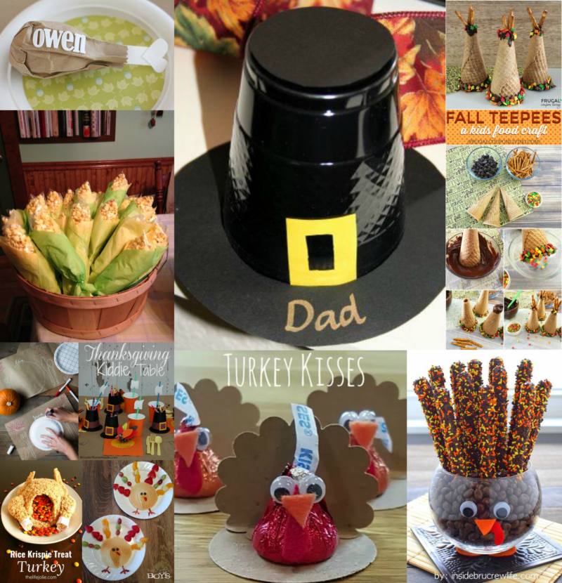 tips and treats for kids thanksgiving table