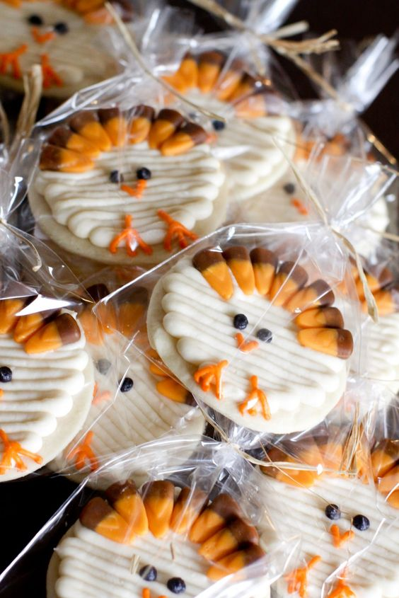 cookie ideas for a kid's Thanksgiving table