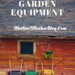 maintaining garden equipment