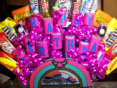 Sock Hop Jukebox Candy Bouquet