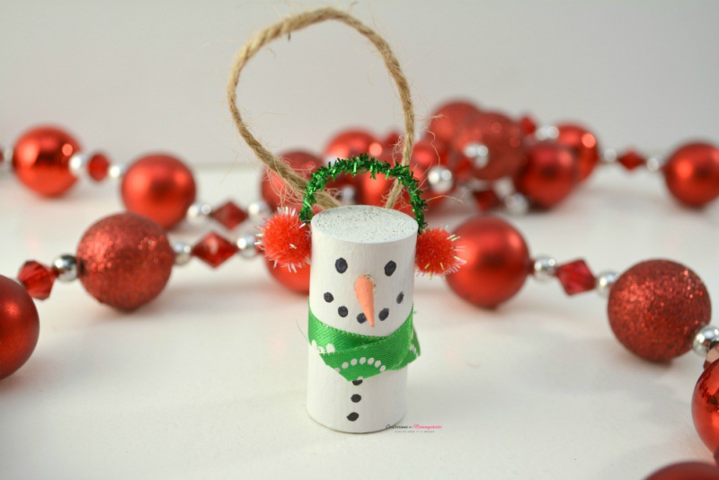 Week 155 - DIY Wine Cork Snowman from Janine Huldie