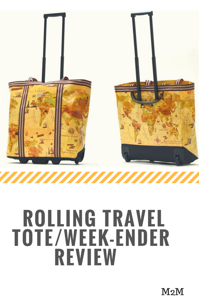 rolling travel tote