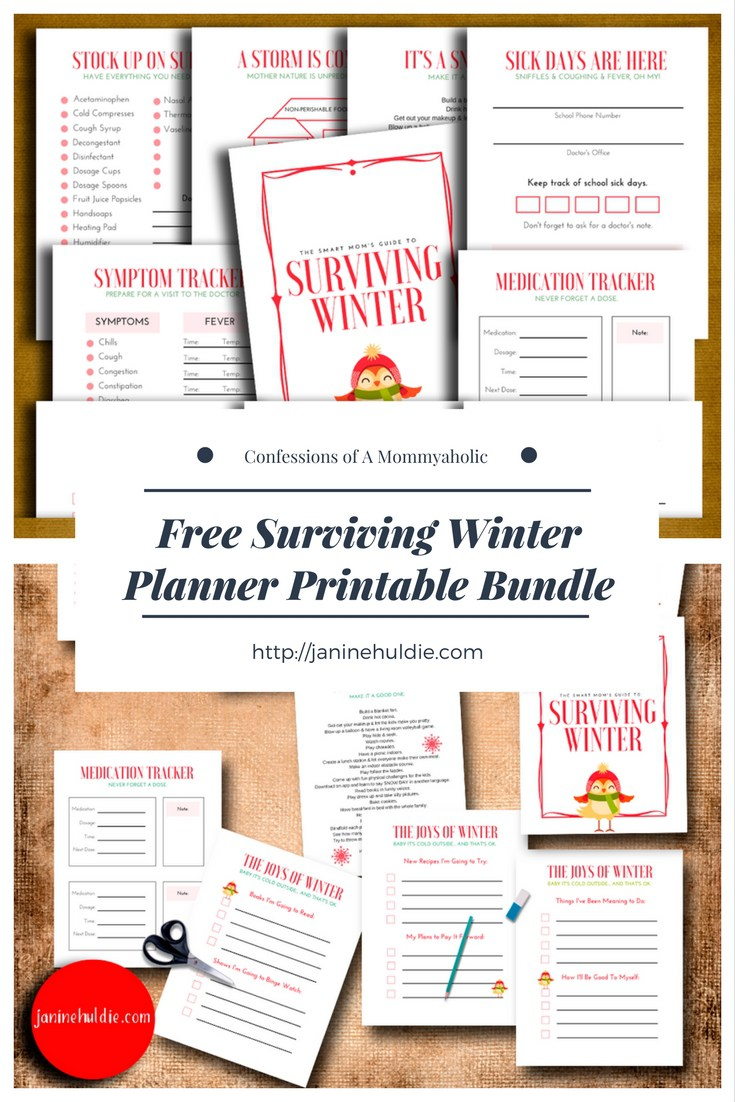 winter planning printables