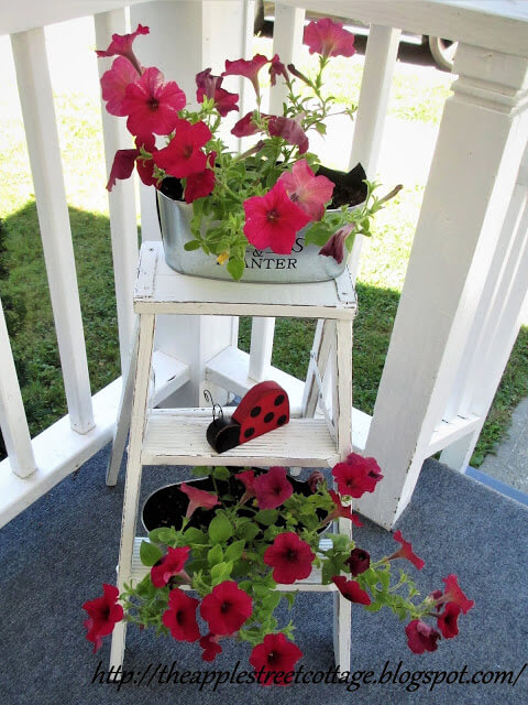 step ladder upcycle