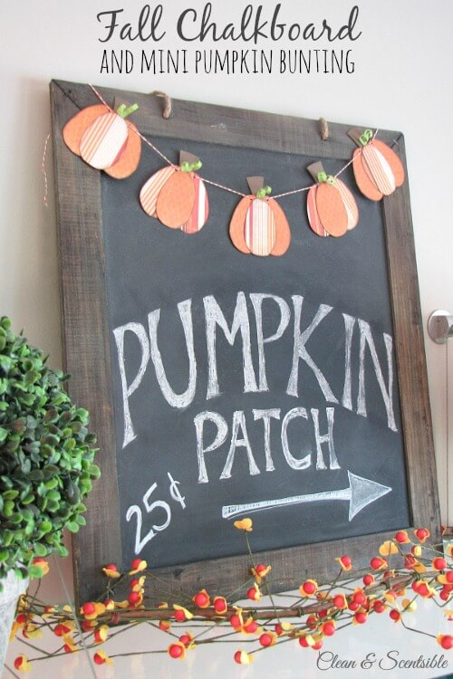 Week 190 - Fall Chalkboard Inspirations from Clean and Scentsible